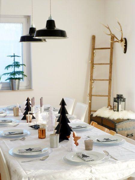 die wohnsinnige // Christmas Table - Tischdekoration Weihnachten