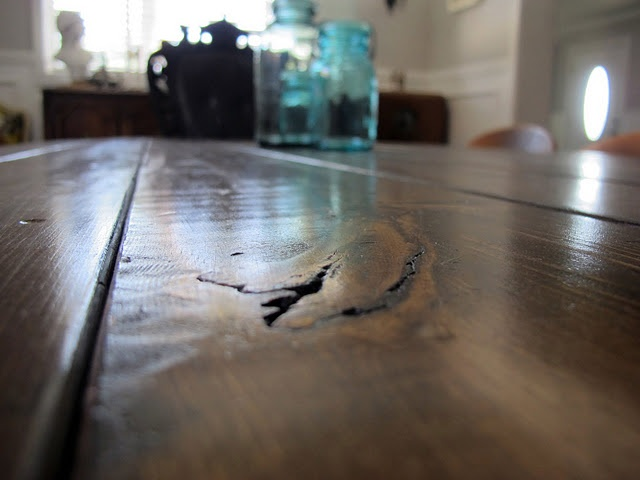 making a farmhouse table...   http://www.dreambookdesign.com/2011/05/vintage-drafting-table-turned-dining.html