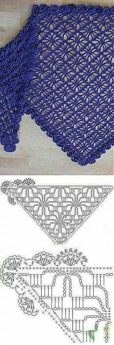 122 besten Crocheted shawl Bilder auf Pinterest | Häkeln, Album und ...