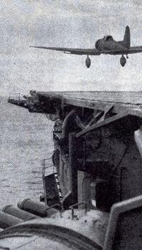 昭和17年 5月 珊瑚海海戦に発艦する九七艦攻