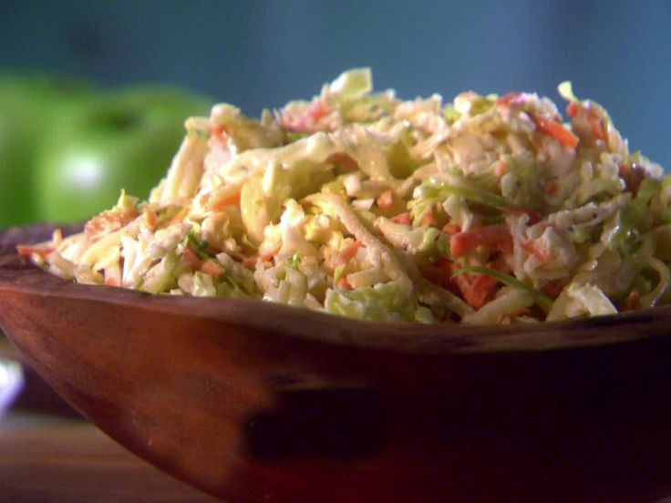Apple-Raisin Cole Slaw recipe from Sunny Anderson via Food Network