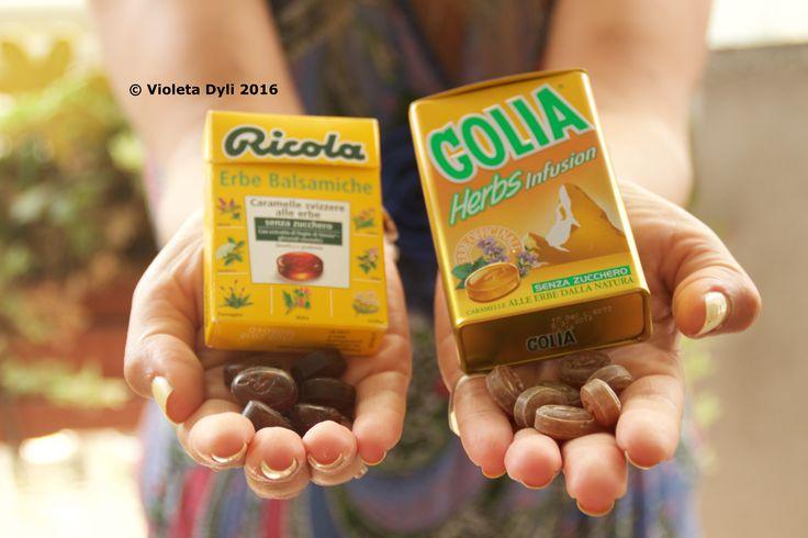 Le mie caramelle preferite ... Secondo voi sono più buone :  Ricola o Golia  :P ?