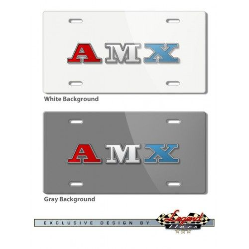 AMC AMX 1971 - 1974 Vintage Logo Novelty License Plate
