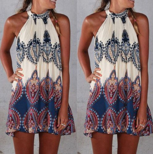 Mini Playsuit Boho Hippy Print Dress