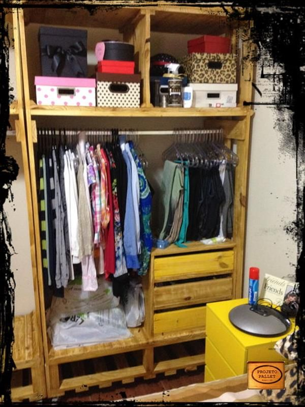 DIY Pallet Closet Organizer | 99 Pallets
