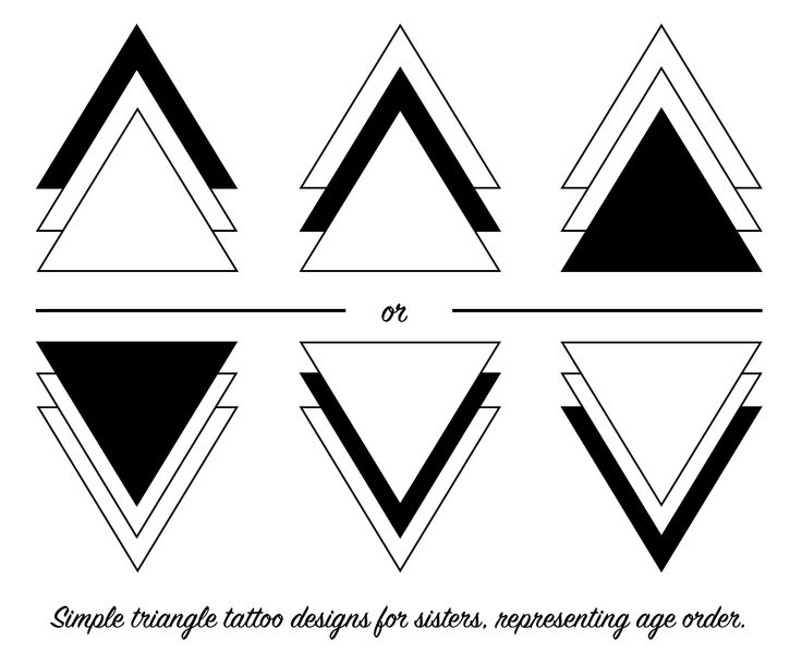 Triangle tattoos for sisters.