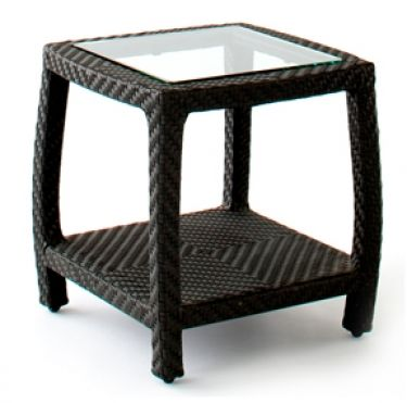 Tranquility Side Table w/ Glass Insert | Andrew Richard Designs 20x20x20 $556.ea