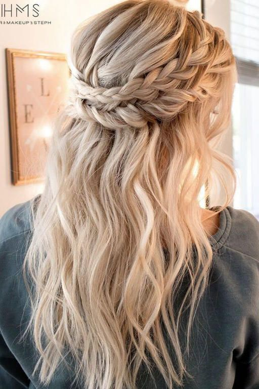 Double crown braids | She will be the beauty of the ball. Prom has … – Prom hairstyles