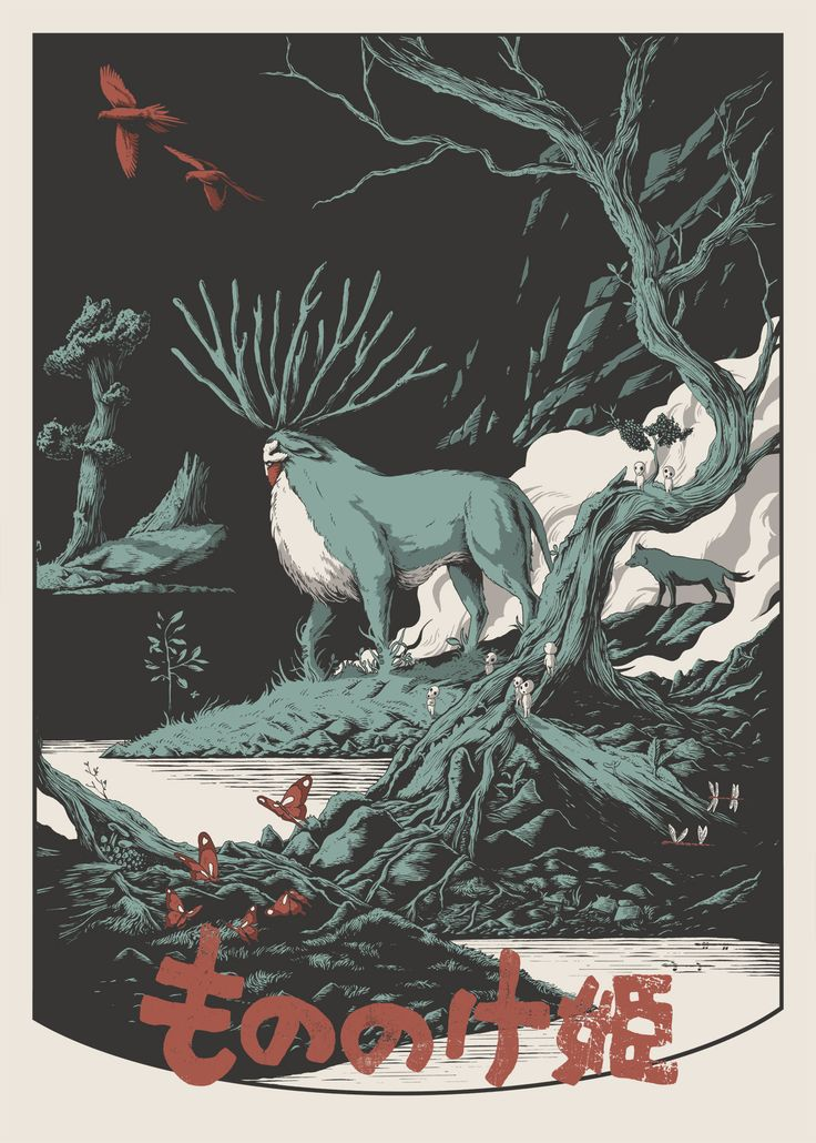 Stylish poster for Princess Mononoke