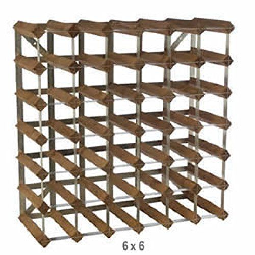 Wine Racks - Traditional Wine Rack Dark Oak Finish 42 Bottles * Want additional info? Click on the image.