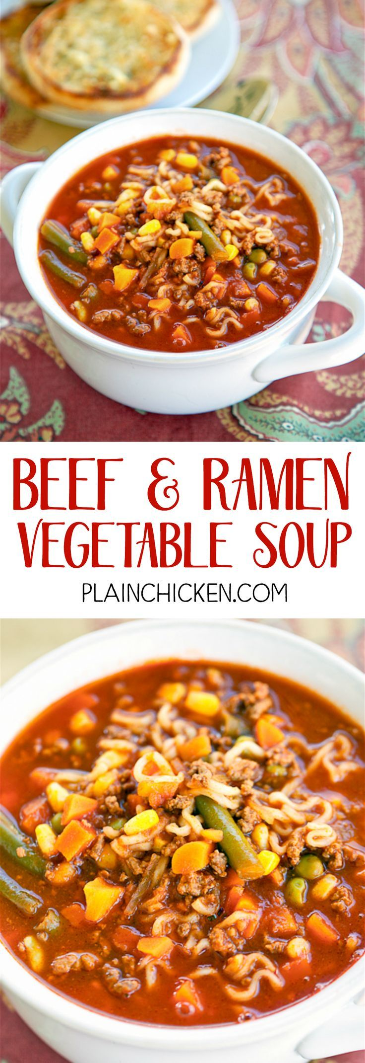 Beef And Ramen Vegetable Soup