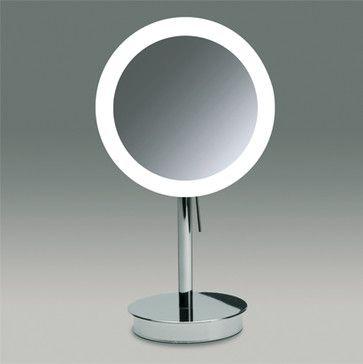 Countertop Lighted Makeup Mirror modern makeup mirrors
