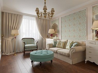 Квартира в классическом стиле, ЖК «Академ-Парк», 136 кв.м.