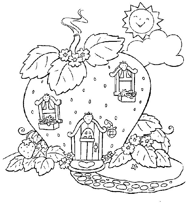 Image detail for -Cartoon Critters strawberry shortcake coloring pages