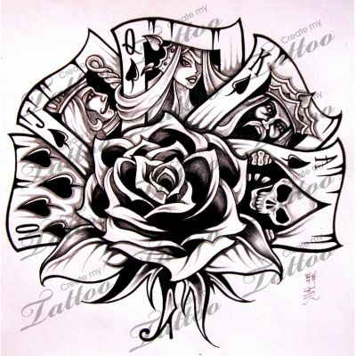 Marketplace Tattoo Royal Flush #5736 | CreateMyTattoo.com