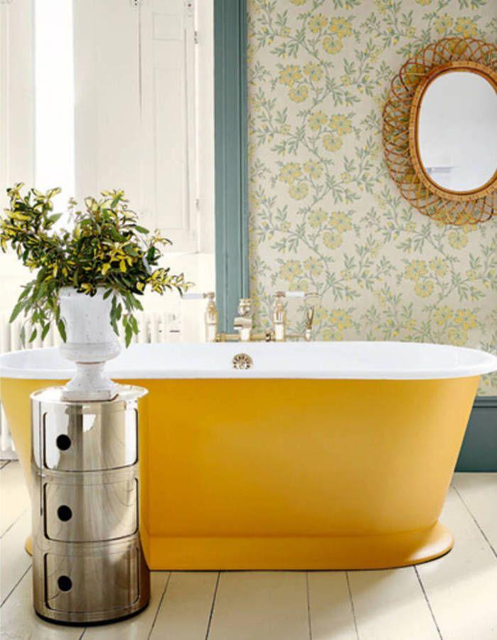 Die besten 25+ Yellow baths Ideen auf Pinterest Blassgelbe - badezimmer quelle