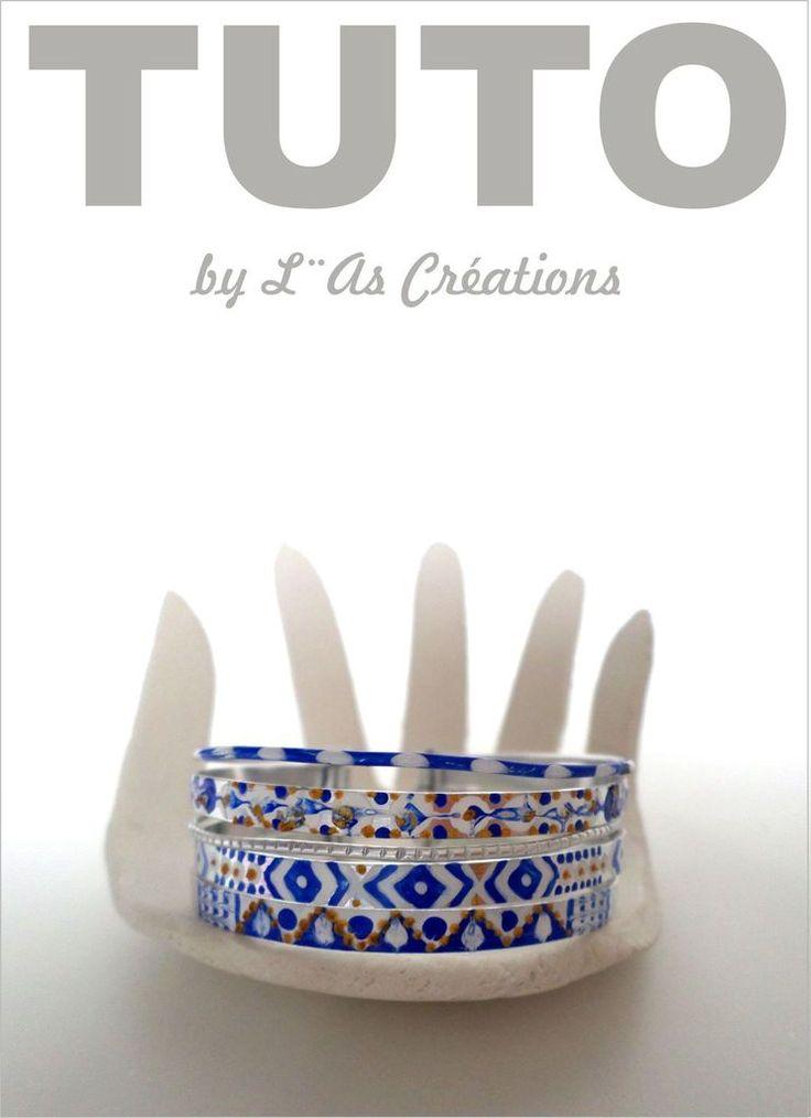Comment réaliser des bracelets en alu peints by L¨As Créations