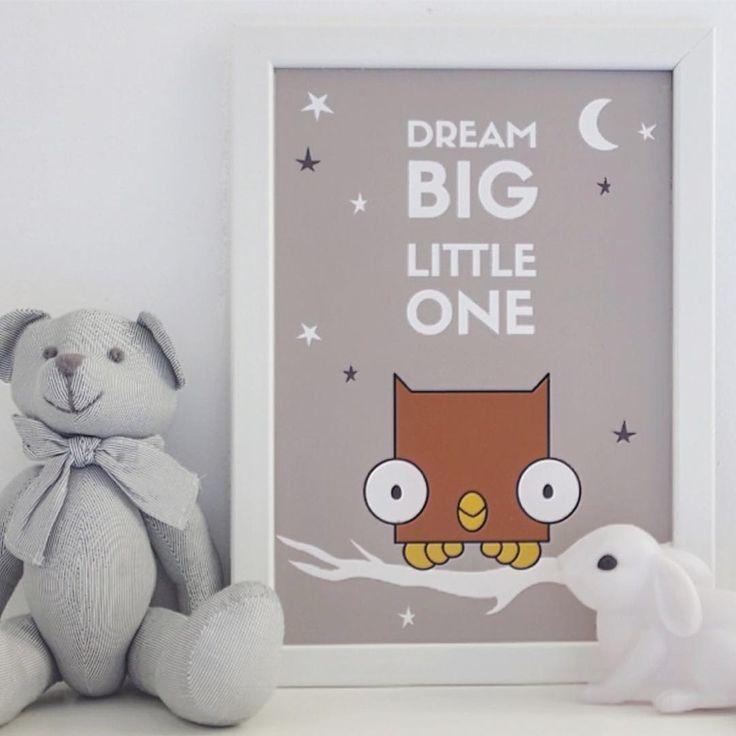 ✨⭐️Dream Big Little One. Baby nursery prints