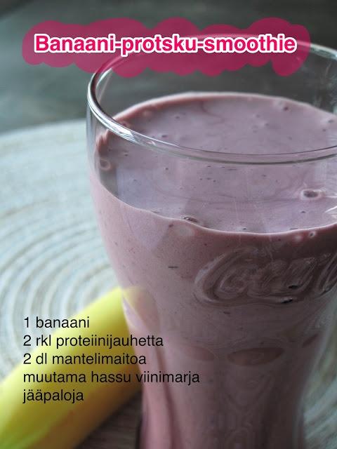 Banaani-proteiini-smoothie