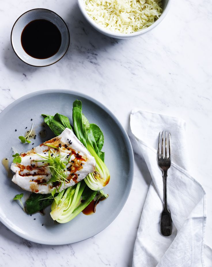 Recipes   Steamed Fish Coconut Rice And Bok Choy   Louise Fulton Keats