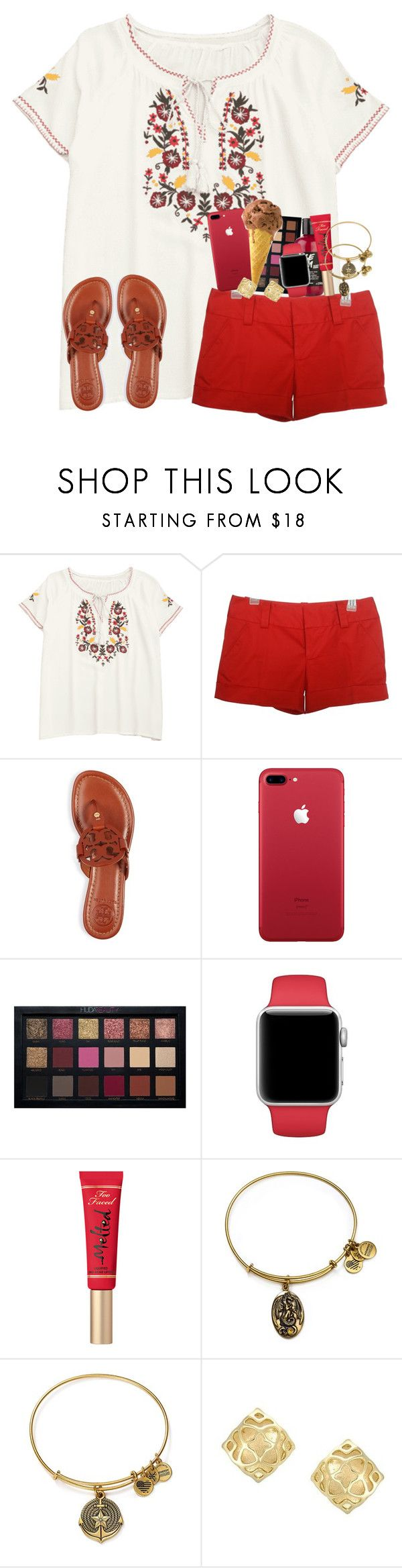 """""""""""the carousel never stops turning"""" 🎠 - mer"""" by karinaceleste ❤ liked on Polyvore featuring Alice + Olivia, Tory Burch, Huda Beauty, Beauty Secrets, Too Faced Cosmetics, Alex and Ani and Kendra Scott"""