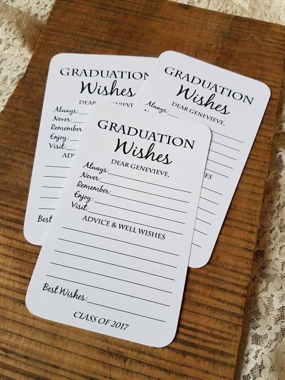Set of 12 graduation wish cards - Guide cards for graduation party - Graduation party decorations - Graduation gift - Graduation consultation