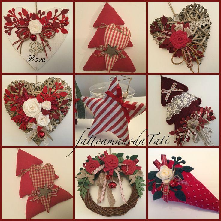 Natale rosso...by fattoamanodaTati www.facebook.com/fattoamanodatati