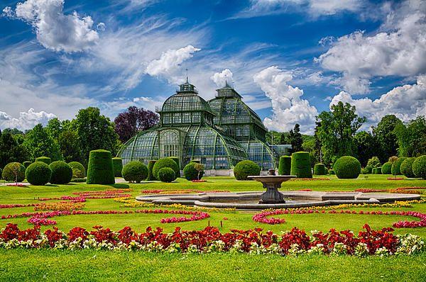 A greenhouse in Vienna park, Austria
