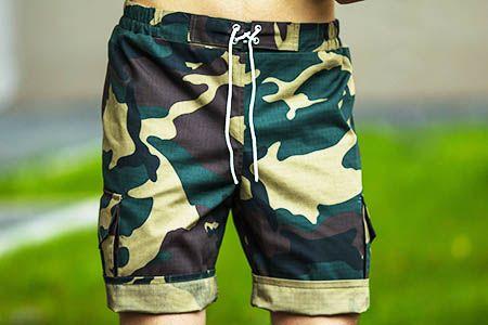камуфляжные шорты