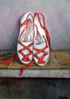 Cuadros al óleo originales de Rudi, alpargatas, folclore vasco.