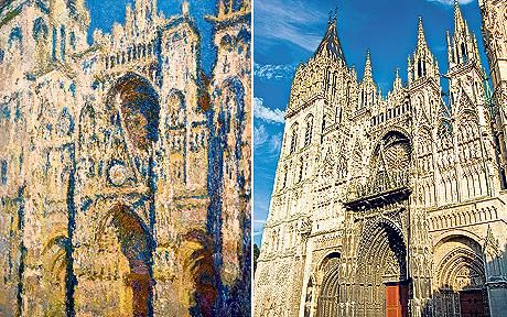 48 best monet s rouen cathedral series images on pinterest cath drales paysages et tableaux. Black Bedroom Furniture Sets. Home Design Ideas