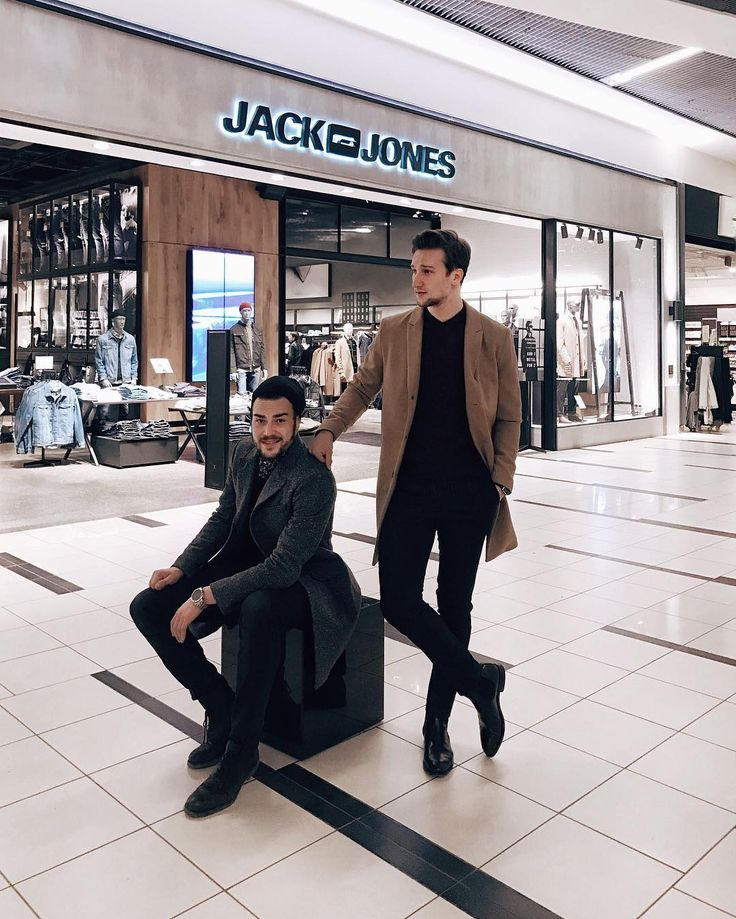 Marcel Floruss wearing PREMIUM by JACK & JONES with the winner of our competition at Field's in Copenhagen #menswear #marcelfloruss #jackandjones