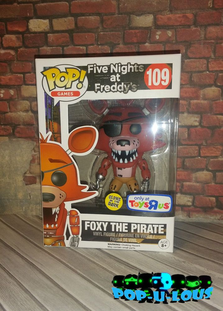 Funko Pop Toys R Us Exclusive GITD Foxy The Pirate. NEW! FNAF #Funko