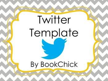 Twitter Templates using Social Media in the Classroom - for the little ones before you actually start tweeting!