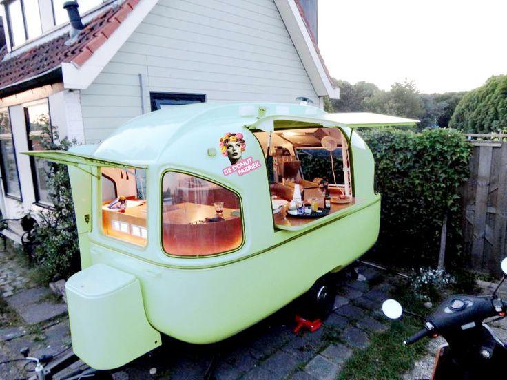 Donut Factory - mint retro business Caravan