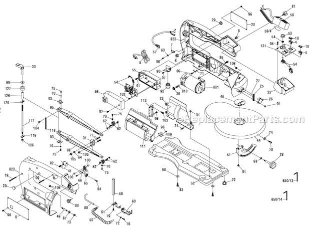 Dremel 1680 Parts List and Diagram : eReplacementParts.com