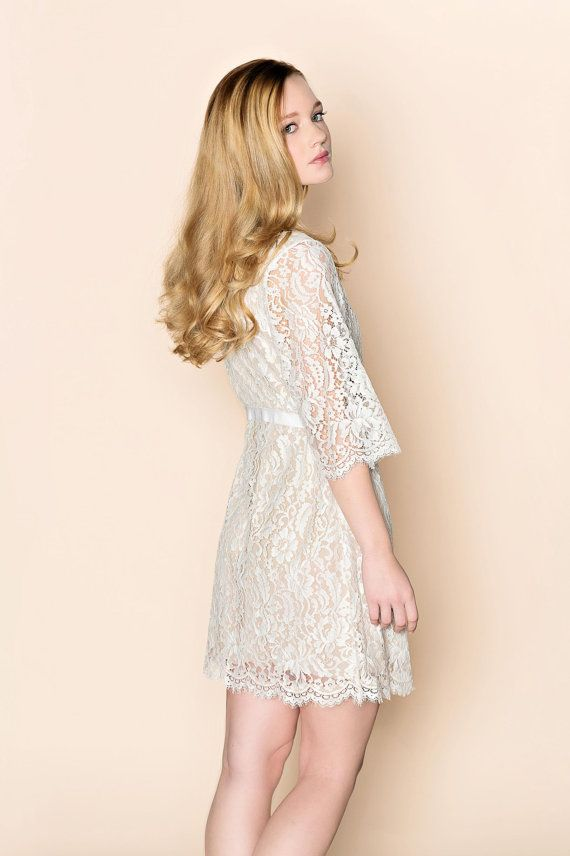 Kate French Lace & silk lined wedding by girlwithseriousdream, $379.00