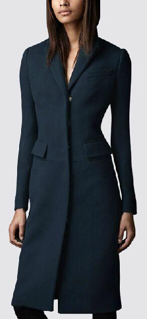 YÜKSEK KALİTE Zarif Maxi Yün Coat 2015 Kış Kadın paltoları Uzun Trençkot Palto