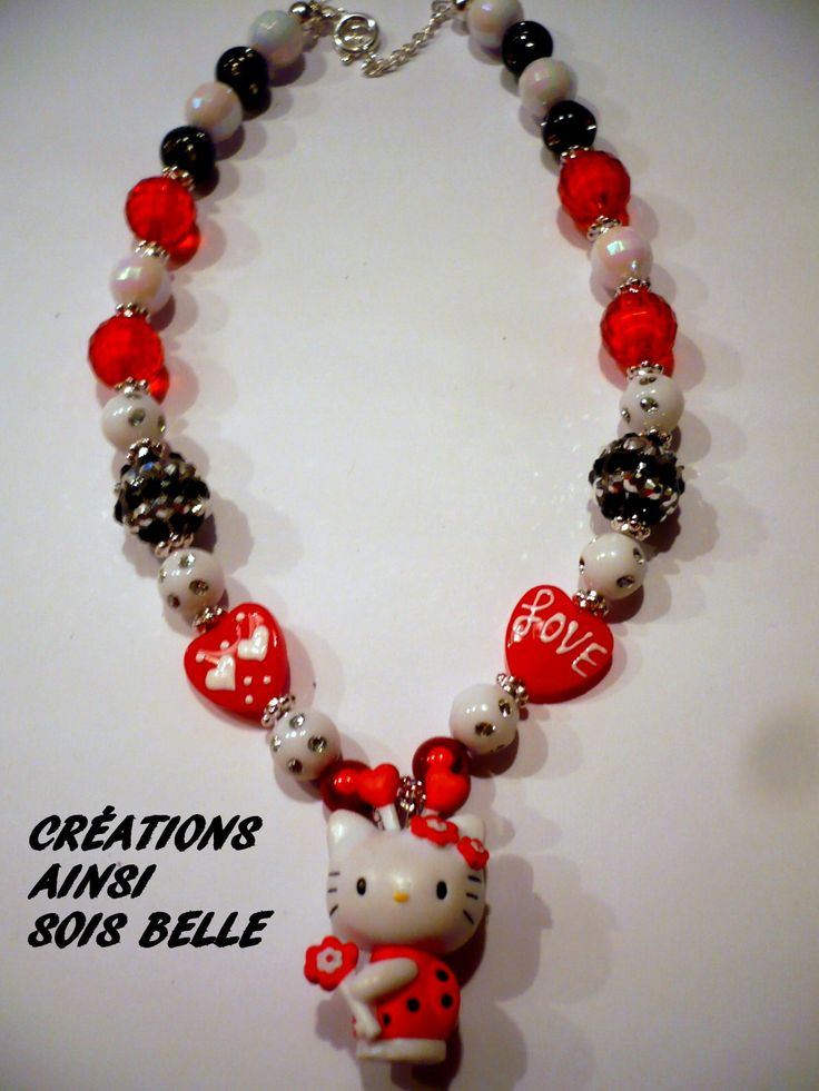 hello kitty collier pour fillettes Mes créations