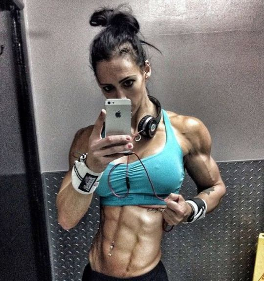 I may be getting too ripped, what do you think? Femalemuscle Talk 800-222-3539