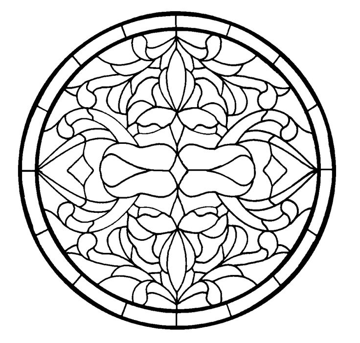 Fleur de le lis lys stained glass pattern stepping stone