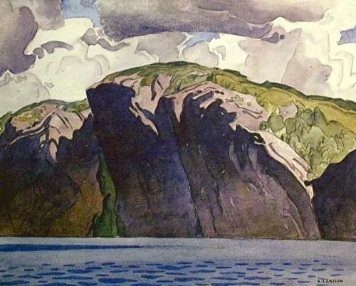 Canadian group of seven watercolor paintings