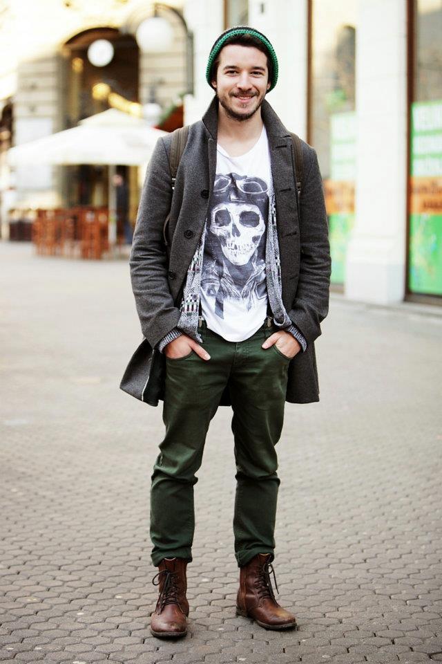 Coat,boots,smile