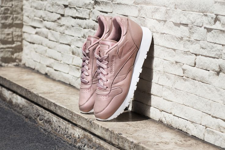 Sneakers femme - Reebok Classic leather pearl pack rose gold