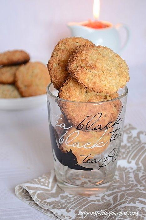 Кокосово-яблочное печенье