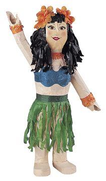 Piñata Danzatrice Hawaiana: anima la tua festa Hawaiana organizzando un divertentissimo momento di gioco grazie a questa pentolaccia a forma di ballerina di Hula! Che sorpresa per tutti gli invitati alla tua festa hawaiana!
