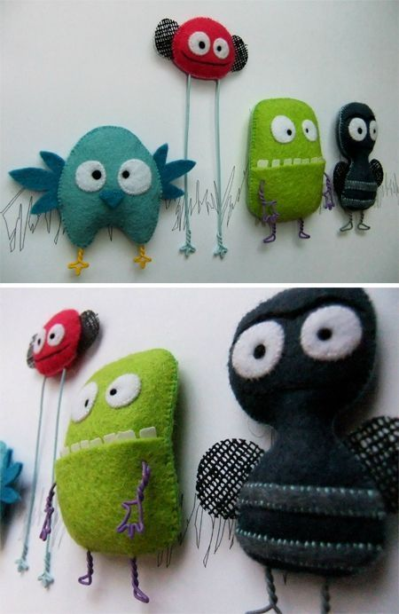 monsters - would this be cute on a wall in a kids room?