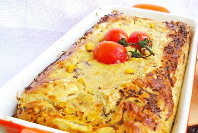Retete Culinare - Placinta cu ton si porumb dulce