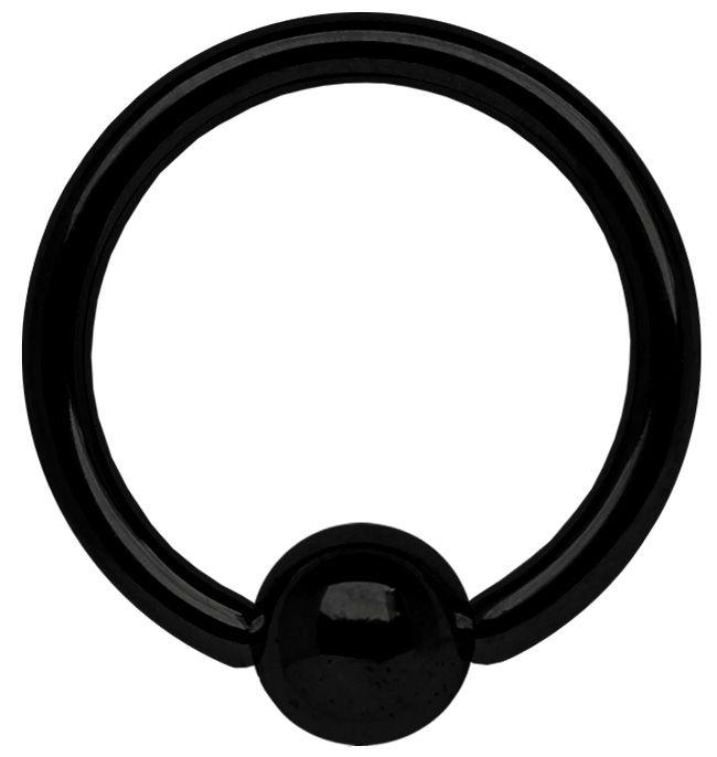 Bild von Piercing Schmuck BCR Ring Stahl PVD schwarz in 3,0 x 10 - 20 mm