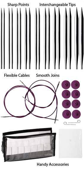 Options Interchangeable Nickel Plated Circular Knitting Needle Set by Knit Picks...knitting wish list